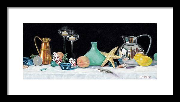 Still Life Framed Print featuring the painting Summer Nights by Sharon Morley