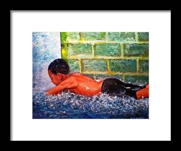 Boy Framed Print featuring the painting Summer Nirvana by Michael Durst