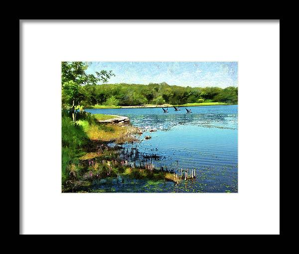 Cedric Hampton Framed Print featuring the photograph Summer On The Lake by Cedric Hampton