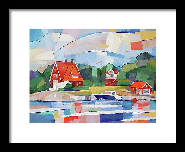 Swedish Paradise Framed Print featuring the painting Summer Paradise by Lutz Baar