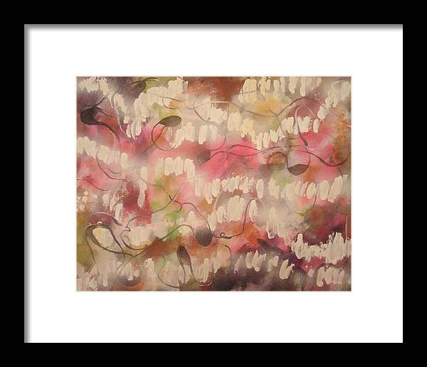 Abstract Pink Framed Print featuring the painting Summer Reflection by W Todd Durrance