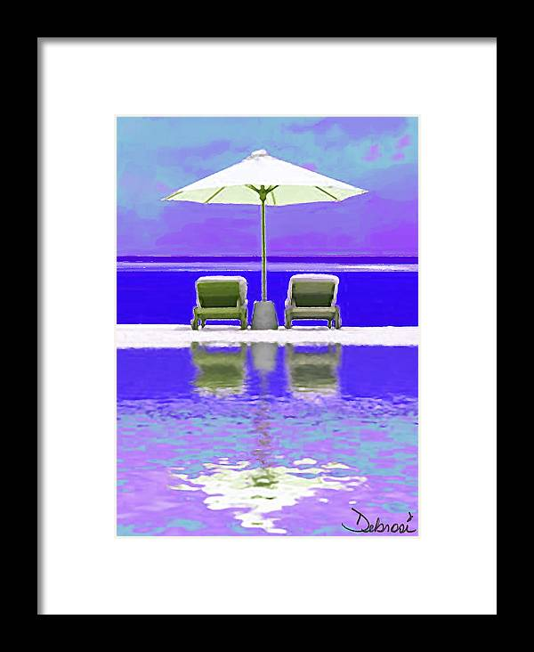 Ocean Framed Print featuring the painting Summer Reflections by Deborah Rosier