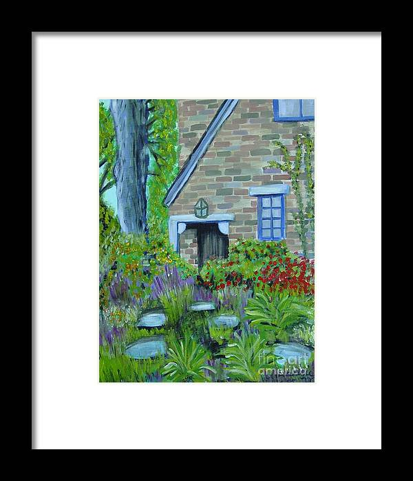 Cottage Framed Print featuring the painting Summer Retreat by Laurie Morgan