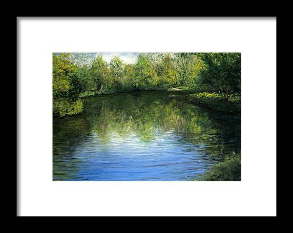 Landscape Framed Print featuring the painting Summer River by Susan Jenkins