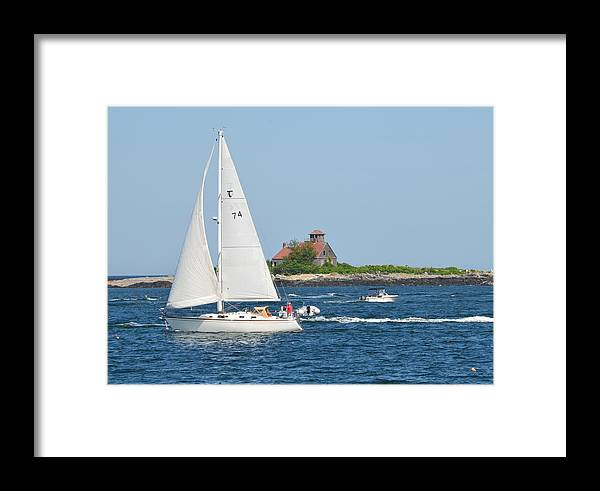 Landscape Framed Print featuring the photograph Summer Sail by Judd Nathan
