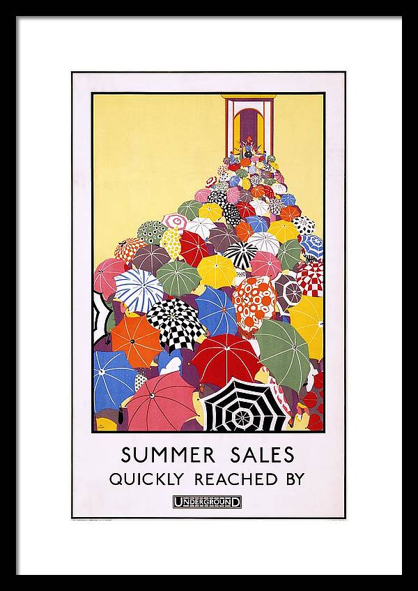 Summer Sales Quickly Reached by Underground - London Underground - Retro travel Poster by Studio Grafiikka
