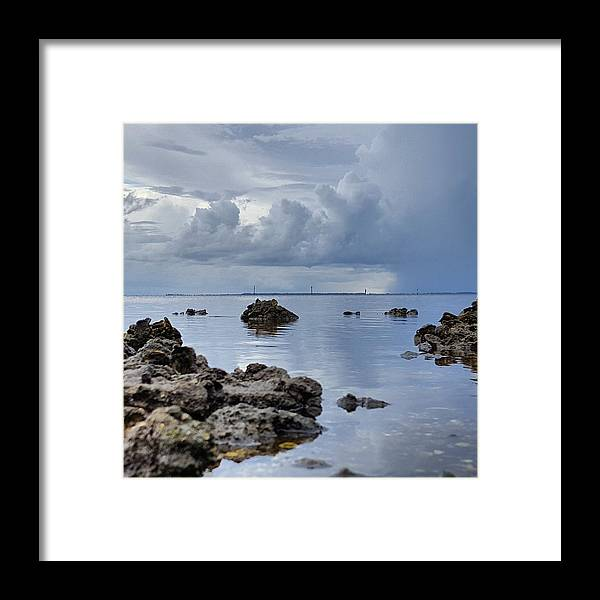 Rocks Framed Print featuring the photograph Summer Showers by Ric Schafer