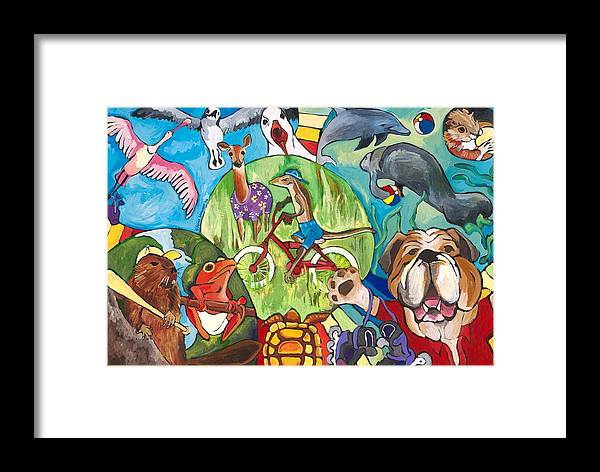 Animals Framed Print featuring the painting Summer by Silvina Lanusse