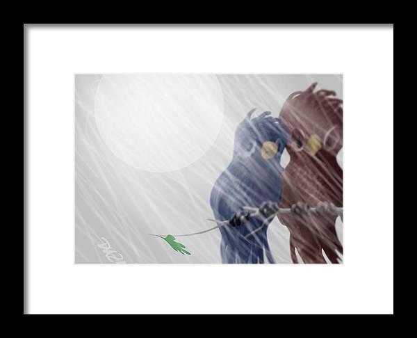 Dkzn Framed Print featuring the digital art Summer Snow by Tom Dickson