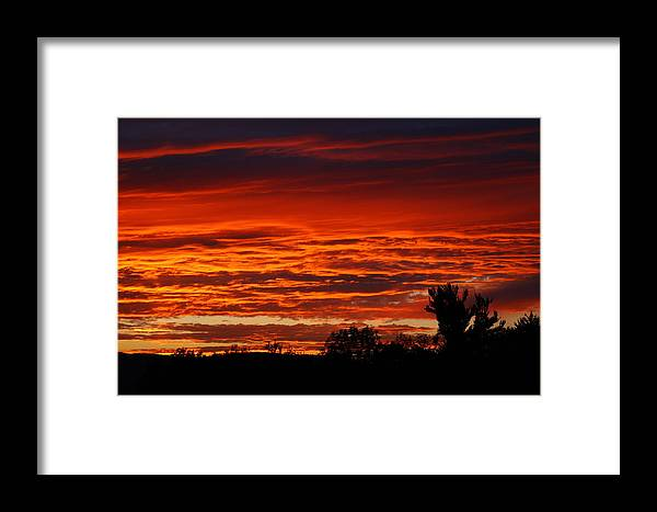 Sunset Framed Print featuring the photograph Summer Sunset 2 by Debbie Storie