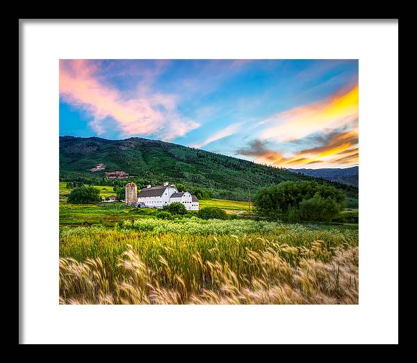 Summer Sunset at Park City Barn by James Udall