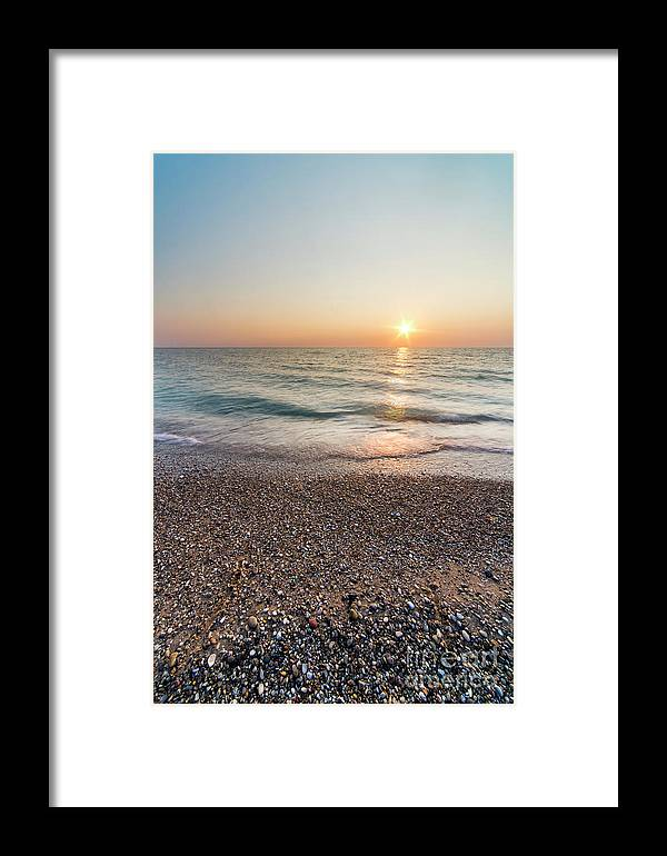 Pierport Framed Print featuring the photograph Summer Sunset At Pierport by Twenty Two North Photography