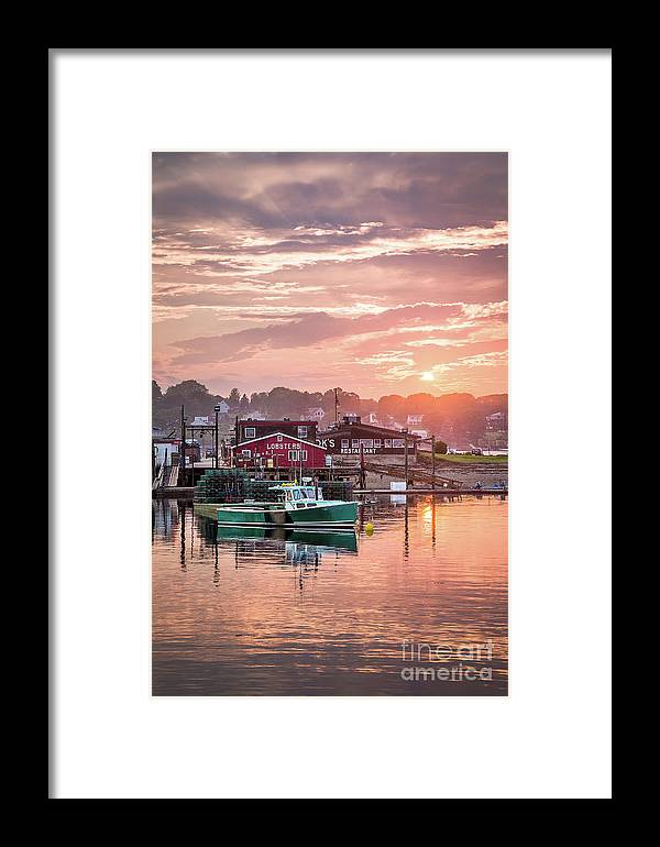 Art Framed Print featuring the photograph Summer Sunset Over Cook's Lobster by Benjamin Williamson
