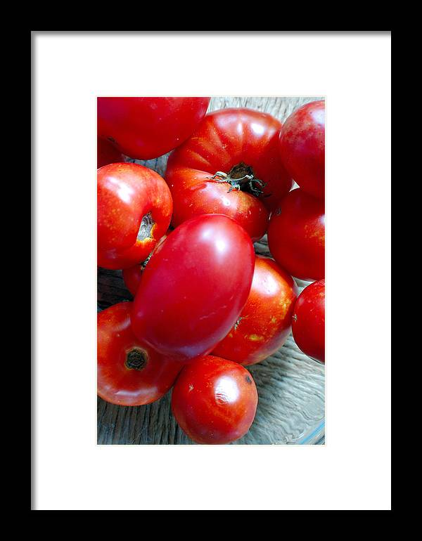 Photography Framed Print featuring the photograph Summer Tomatoes by Heather S Huston