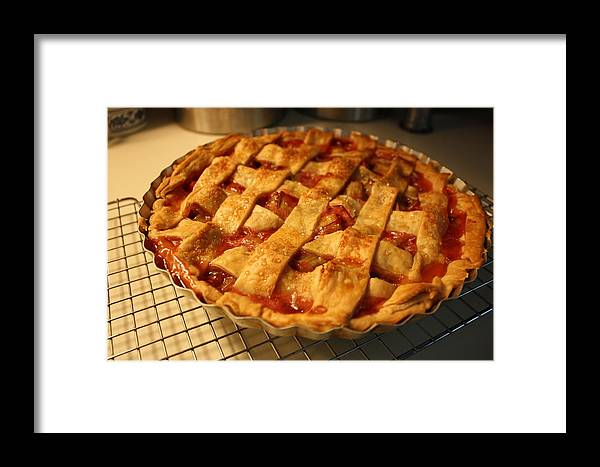 Pie Framed Print featuring the photograph Summer Treat by Annie Babineau