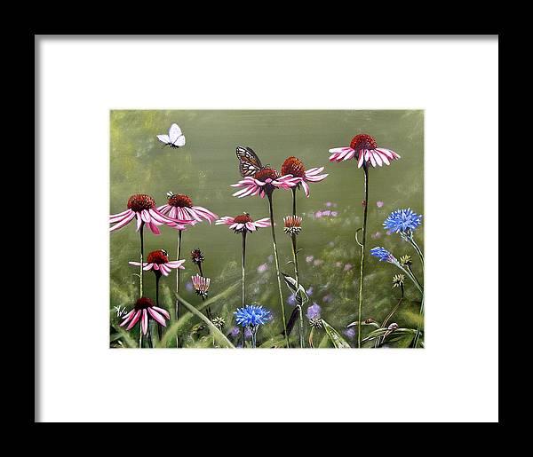 Summerlands Framed Print featuring the painting Summerlands by Arie Van der Wijst