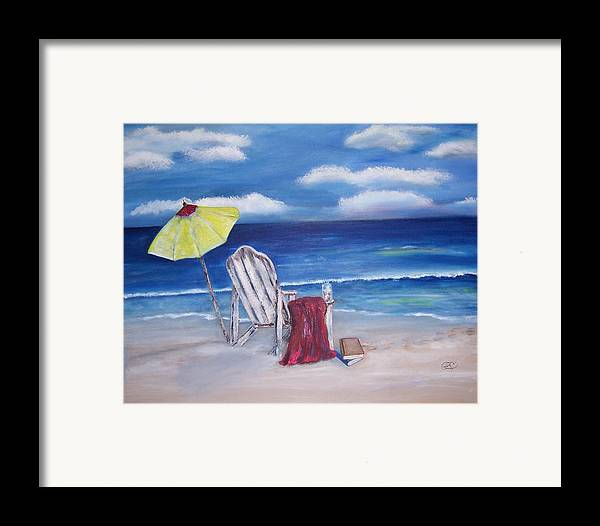 Landscape Framed Print featuring the painting Summers Dream by Penny Everhart