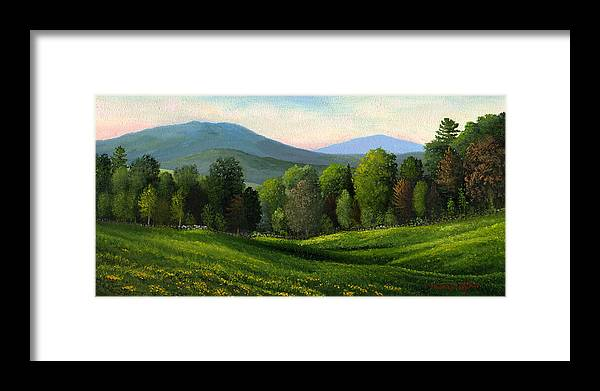 Landscape Framed Print featuring the painting Summers Ending by Frank Wilson