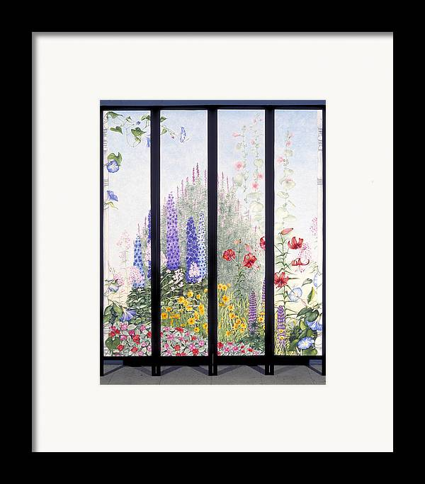 Garden Framed Print featuring the painting Summerscreen by Nancy Ethiel