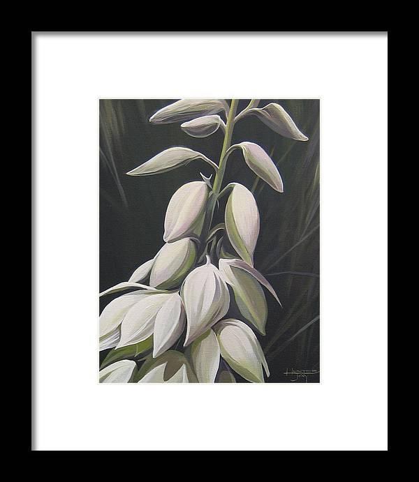 Yucca Plant Framed Print featuring the painting Summersilver by Hunter Jay