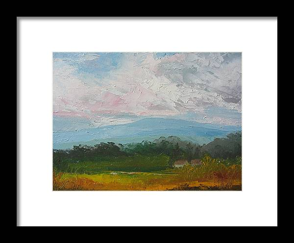 Landscape Framed Print featuring the painting Summertime by Belinda Consten