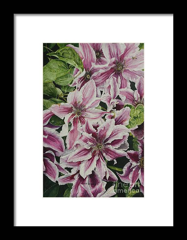 Flowers Framed Print featuring the painting Summertime Finery by Helen Shideler