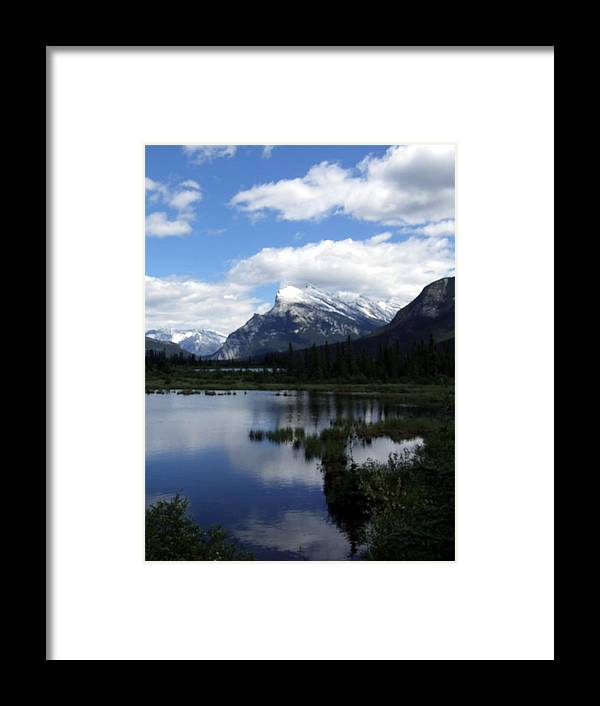 Landscape Framed Print featuring the photograph Summertime In Vermillion Lakes by Tiffany Vest