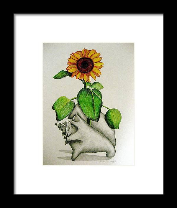Sunflower Framed Print featuring the mixed media Summertime by Marita McVeigh