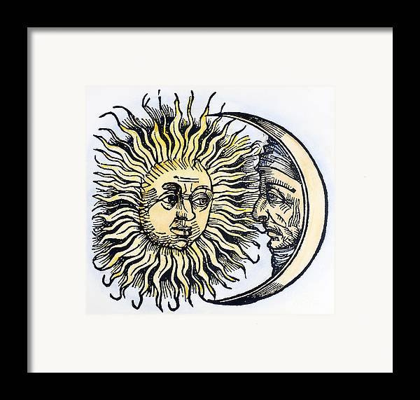 1493 Framed Print featuring the photograph Sun And Moon, 1493 by Granger