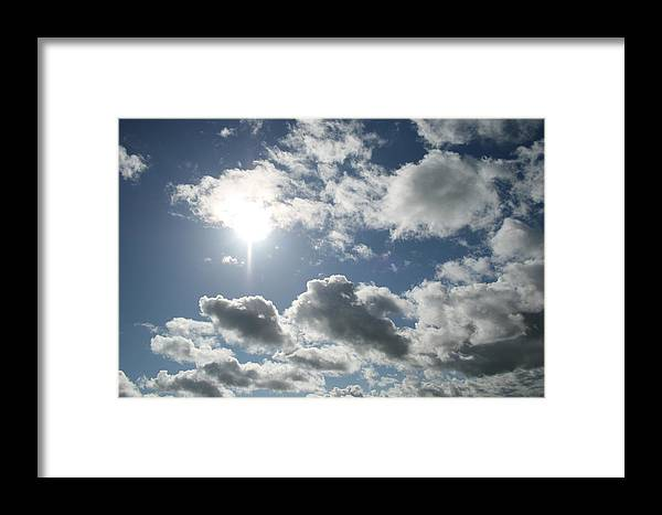 Sky Framed Print featuring the photograph Sun Clouds by Joshua Sunday