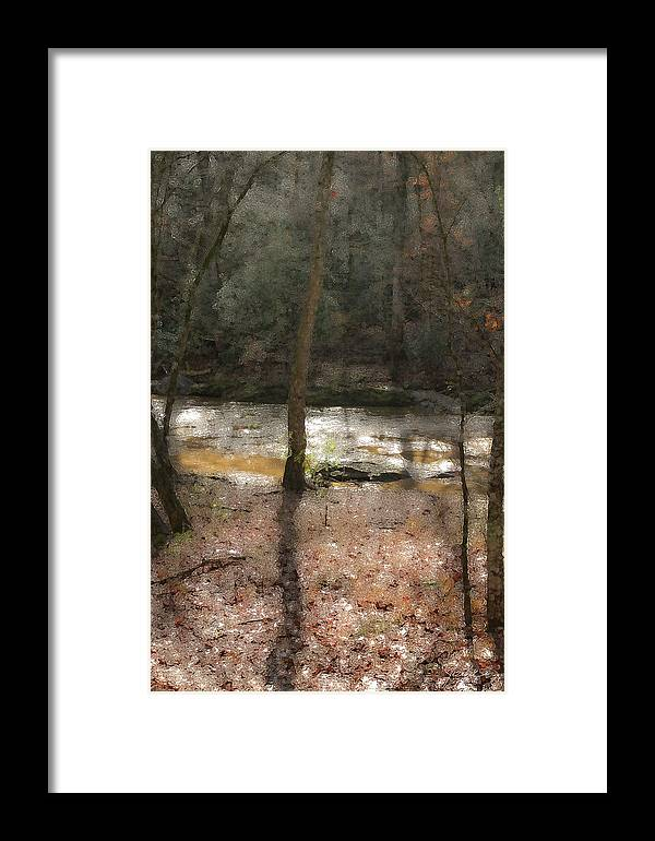 Forest Framed Print featuring the photograph Sun Dance On The River by Isartdesign By Isabella Schnittger