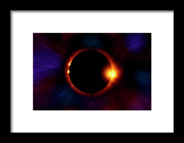 Eclipse Framed Print featuring the photograph Sun Fire by Mark Andrew Thomas