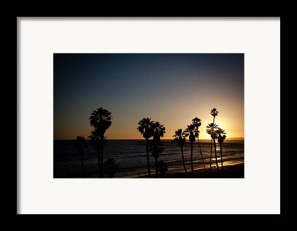 San Clemente Framed Print featuring the photograph Sun Going Down In California by Ralf Kaiser