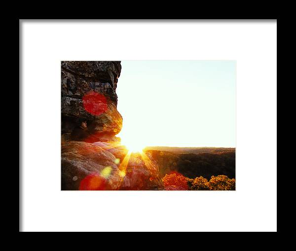 Evening Framed Print featuring the photograph Sun by Jacob Carden