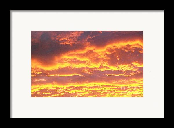 Photo Framed Print featuring the photograph Sun On The Clouds by Marsha Heiken