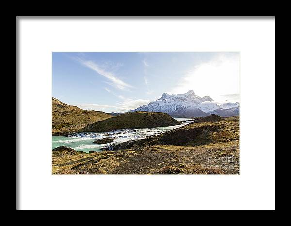 Nature Framed Print featuring the photograph Sun On The River by Mirko Chianucci