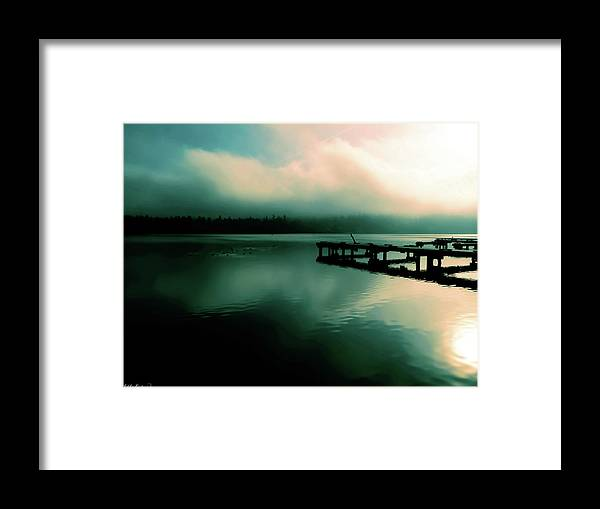 Landscapes Framed Print featuring the photograph Sun Peeking Through The Clouds In Kenmore Washington by Eddie Eastwood