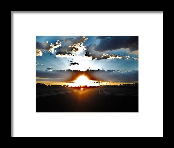 Sun Framed Print featuring the photograph Sun-plosion... by Paul Whitney