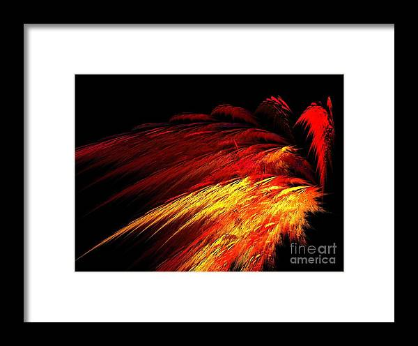 Apophysis Framed Print featuring the digital art Sun Plumes by Kim Sy Ok