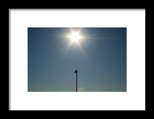 Sun Framed Print featuring the photograph Sun Post by Joshua Sunday