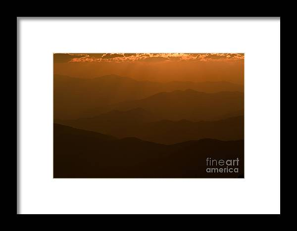 Clarence Holmes Framed Print featuring the photograph Sun Rays At Sunset I by Clarence Holmes