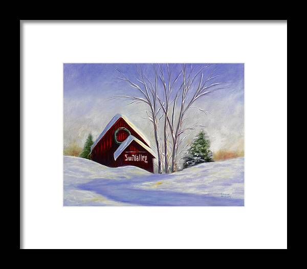 Landscape White Framed Print featuring the painting Sun Valley 1 by Shannon Grissom