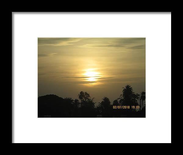 A Beautiful Sunset View Framed Print featuring the photograph Sun View by Rajesh Kumawat