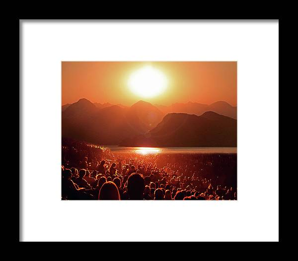 Landscape Framed Print featuring the photograph Sun Worshipers by Christopher McKenzie