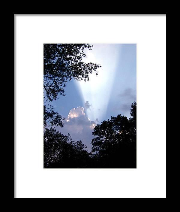 Sky Framed Print featuring the photograph Sunbeam by Nicole I Hamilton