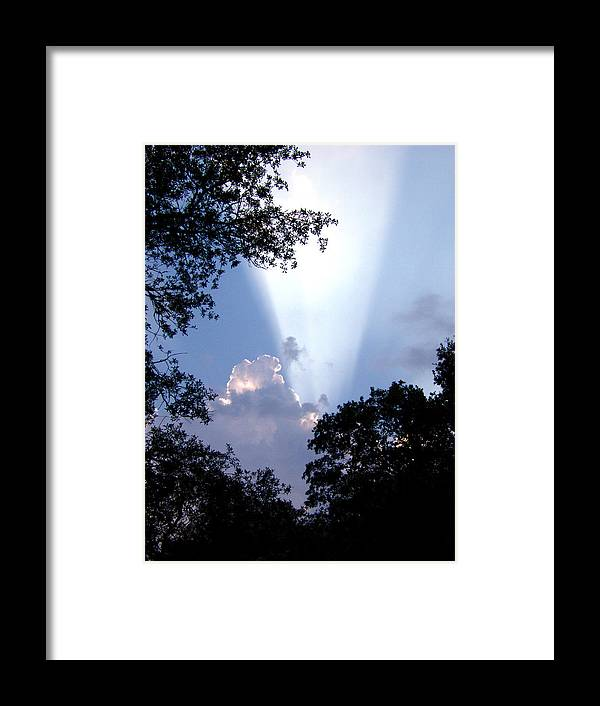 Sky Framed Print featuring the photograph Sunbeam by Nicole I Hamilton