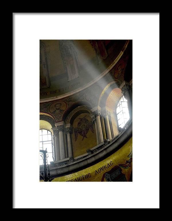Sunbeam Framed Print featuring the photograph Sunbeams Heavenward by Barbara Stellwagen