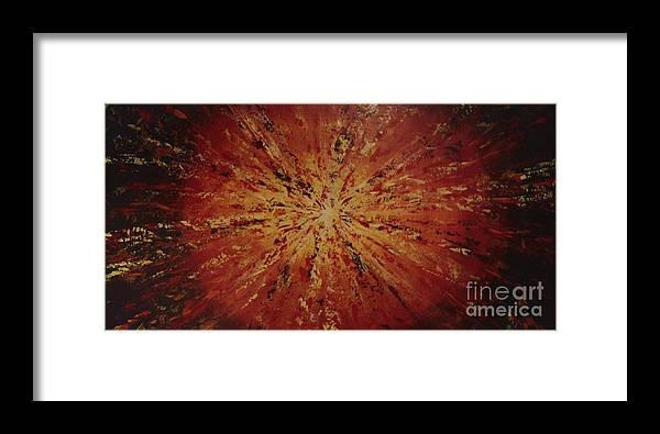 Khamis Framed Print featuring the painting Sunburst Iv by Dj Khamis
