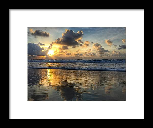 Florida Framed Print featuring the photograph Sunburst Reflection Delray Beach Florids by Lawrence S Richardson Jr