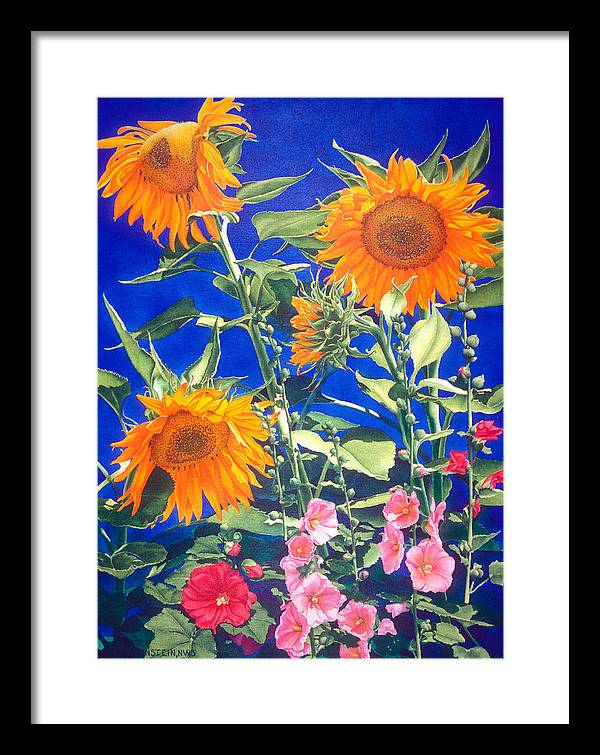 Floral Framed Print featuring the print Suncatchers by Mary Backer